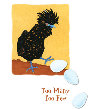 Too Many Too Few -half title illustration