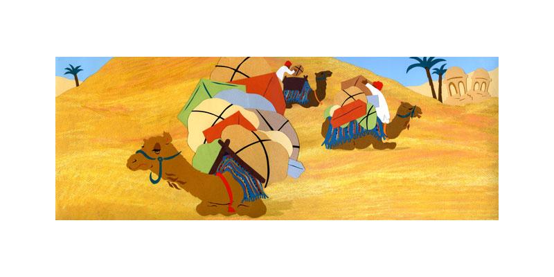 Camel Caravan - illustration (Tambourine Books)