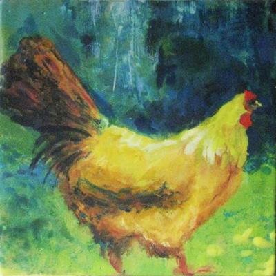 White Necklace Hen