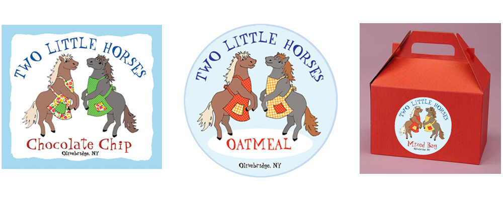 Two Little Horses labels