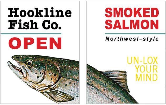 Hookline Fish Company signage
