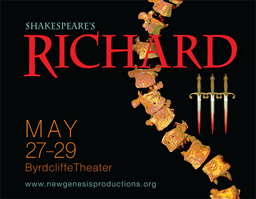 New Genesis Productions Richard III postcard