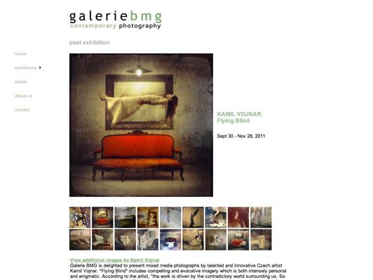 Galerie BMG webdesign - interior
