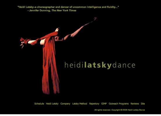 Heidi Latsky Dance Company website design 2006