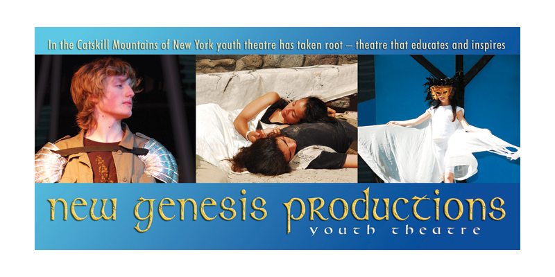 New Genesis Productions  rack card