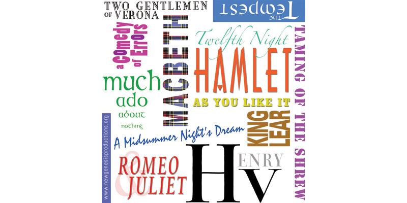 Shakespeare tote bag graphic